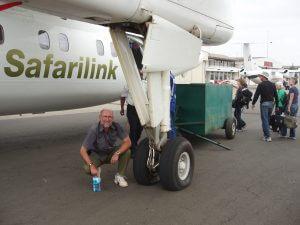 Po pristátí v Nairobi